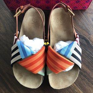 Tory Burch Corey Platform Sandal-Tech Knit/Veg NWT